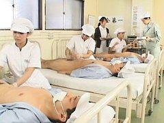 Japanese AV Model and nurses learn how to take car...