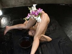 Aya Sakuraba Asian gets ass hole punished and fill...