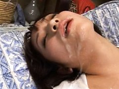 Mika Osawa Asian full of cum on mouth gets fucked...