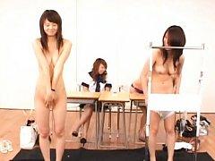 Japanese AV Model is ashamed to be undressed in fr...