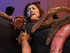 Asami Ogawa Asian is attacked by a creature with l...