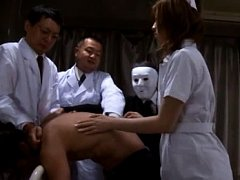 Japanese AV Model nurse sucks phallus of man held...