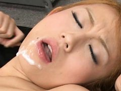 Reon Otowa Asian is fucked tied in belts and gets...