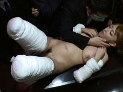 Reon Otowa Asian in bandages is fondled on her rou...