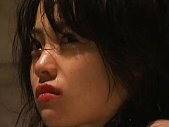 Japanese AV Model is pushed by man to swallow othe...