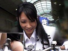 Yua Kisaki Asian enjoys the trips with bikes screw...