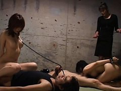 Japanese AV Model and miss with leashes are drille...