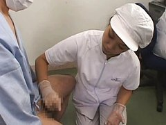 Japanese AV Model and another nurse stroke dicks w...