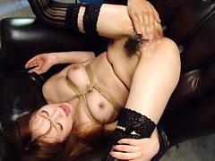 Akiho Yoshizawa Asian in ropes has wet pussy finge...