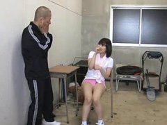 Japanese AV Model in sports outfit is hanged up si...