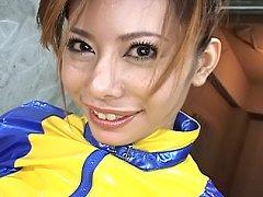 Moe Aizawa Pretty Asian girl spreads her legs for...