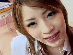 Yuu Mahiru Asian babe is a schoolgirl who enjoys s...