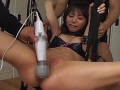 Yuka Osawa Lovely Asian doll tied and lubed for a...