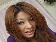 Maya Horny Asian chick enjoys sucking a big cock o...