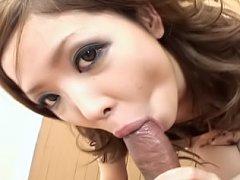 Naami Hasegawa naughty Asian slut gives a hot doub...