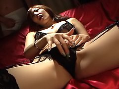 Erena Kurosawa Asian slut is masturbating with toy...