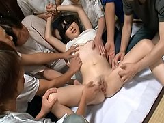 Aoba Itu slutty Asian teen parties and gets a hard...
