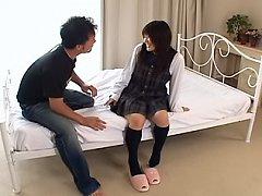 Tsumiki Shindou Asian school girl gets a big dildo...