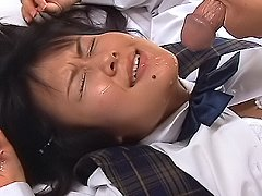 Tsumiki Shindou Asian student shows off her huge c...