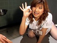 Night Nurses horny Asian Nurse takes a break from...