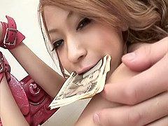 Ann Umemiya Asian whore gets her cash then spreads...
