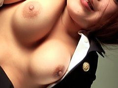 Kaede Oshiro hot Asian slut is playing with her ho...