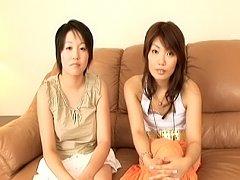Lovely Asian teen lesbians enjoy getting their tig...