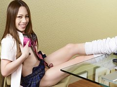 Newhalf Schoolgirl Sayaka Taniguchi is so ready to...
