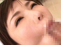 Anri Okita Asian with huge assets gets cum after i...