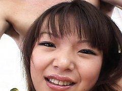 Saki Ogasawara Asian has asshole and shaved twat f...
