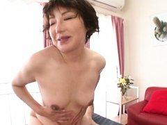 Japanese AV Model is doggy fucked and fondles ass...