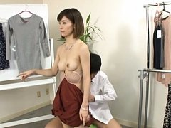 Yuria Ashina dummy is fucked in mouth and has boob...