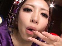 Ayu Sakurai Asian naughty geisha sucks boner till...