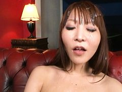 Rei Aimi Asian gets cum all over pretty face and o...