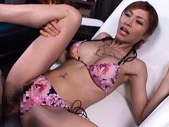 Akari Asahina Asian with big jugs and pierced bell...