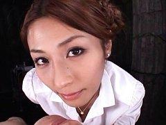 Akari Asahina with hot bum has cunt licked and lic...
