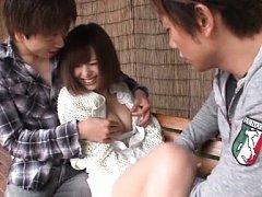 Aino Kishi Asian has nipples of big jugs rubbed by...