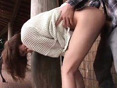 Aino Kishi Asian is doggy fucked and gets cum on e...