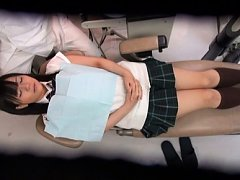 Japanese AV Model in uniform has teeth checked and...
