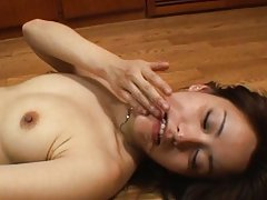 Amateur Asian dame with dark nipples is fucked in...