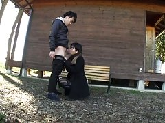 Hibiki Ohtsuki Asian with hot ass is fucked from b...