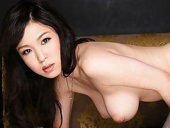 Beautiful big boobs JAV Idol Yui Satonaka in sexy...