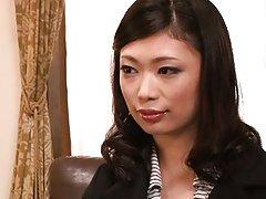 Hikari Hino Asian has big tits and mouth examined...