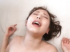 Beni Itou Asian gets cumshot on face after is stro...