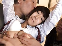 Rin Yamagishi Asian has round tits touched by dude...
