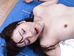Yui Tatsumi Asian is fucked under panty and gets l...