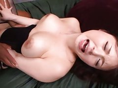Yua Kuramochi Asian with huge cans gets cum and st...