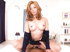 Kaori big tits milf rides cock with passion in sup...