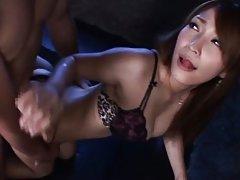 Kokomi Sakura Asian milf loves cock in her cramped...