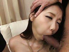 Ena Sakura nasty Asian babe blows cock in nasty th...